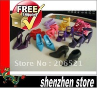 Lots Of New 10 Pairs Beautiful Shoes For Barbie Dolls Free Shipping HK Airmail
