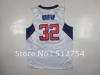 Free Shipping,#32 Blake Griffin Basketball Jersey,Top quality Sports Jersey,Embroidery logos,Size 44-56,Mix Order