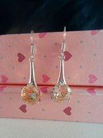 WOW! CHEAP! GOOD!orange SUGAR COLOUR  18Kwhite gold GP earring,  free shipping+box 983147958345