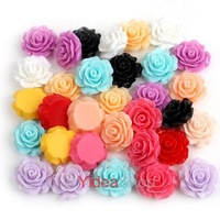 Fashion 165pcs Mixed Lots Resin Rose Flowers Cabochons Cameo Flat Back 111579