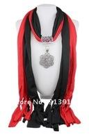 1pc Wholesale fashion handmade tassels lady's Cotton pashmina wrap scarf Alloy Owl beaded pendant necklace shawl scarves jewelry