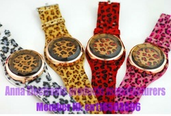 Charm women style Leopard Grain watches best chip 1pcs/lot hot sell High definition glass Free shipping(China (Mainland))