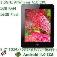 "Free Shipping Low Price 9.7"" Onda Vi40 Ultimate MID AllWinner A10 CPU Original IPS Screen 1080p HD HDMI 3G OTG Dual Camera Hot"