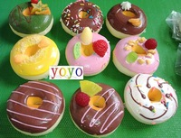 wholesales! New 9 cm jumbo fruit donut squishy phone charm/mobile pendant/chain/squishy Strap/keychain