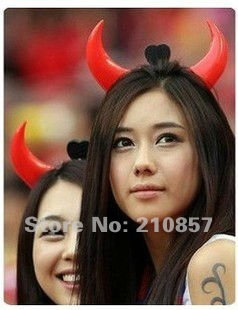 Free shipping-Halloween concert luminous horn hairpin flash horn hair band horn lamp toys wholesale goods( 20 pieces/lot )(China (Mainland))
