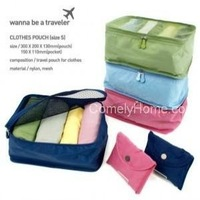Folding Clothes Pouch (size S) wanna be a traveler