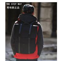 Fashion casual bag Double shoulder bags 2012 man bag Korean backpack 100% cotton canvas backpack
