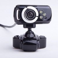 4pcs Portable Clip USB 3 LED Webcam Camera Web Cam With Mic for PC Laptop free ship