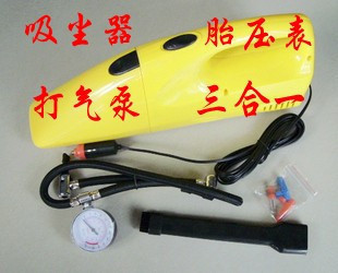 Multifunctional auto vacuum cleaner car vacuum cleaner belt tire pressure table inflatable pump car vacuum cleaner