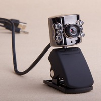 4pcs Portable Clip USB 6 LED Webcam Camera Web Cam With Mic for PC Laptop free ship