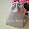 Free Hong Kong Post 100 Pieces Retro 10*15cm Linen Bag Sack Jewelry Bags Wedding Party Candy Beads Christmas Gift Bag