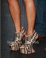 2012 brand NEW Celebrity Rome style Genuine leather lambskin women's open toe highheel pumps pumps platform high heels