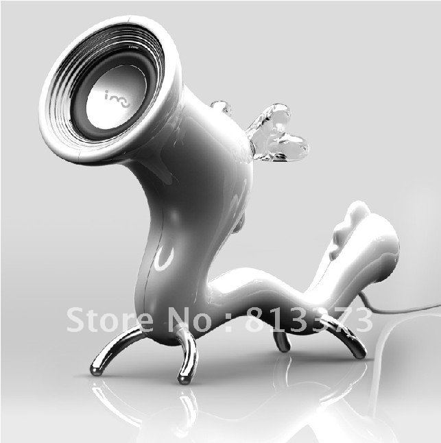 Free shipping 2012new i-mu dragon mini vibration speakers PC speakers creative gift audio speakers(China (Mainland))
