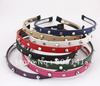 10 pcs/Lot Fashion Lady Girl Leather Spike Rivet Studded Headband Hair Band