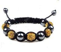 good news! hot sell on ebay! gift to yourself! GOLD  SHAMBALLA BRACELET CRYSTAL Disco Ball 843798528345