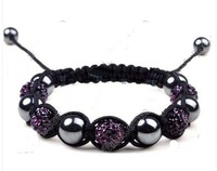 SO nice gift to you friend!DARK PURPLE  SHAMBALLA BRACELET CRYSTAL Disco Ball Clay  SHAMBALA Paris  87e49583745