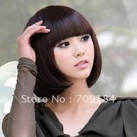 3 Color Stylish Fashionable BOB style Wig human hair wigs
