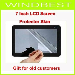 Freeshipping 7,8,9,9.7,10,10.1 inch LCD Full Screen Protector Skin for ipad MID Tablet PC Apad Notebook Gift for old customers(China (Mainland))