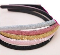 Min.order is $15 (mix order) Fashion Glitter headband Alice band Hair Band Ring Rope Headwear Coiffure AQ1375