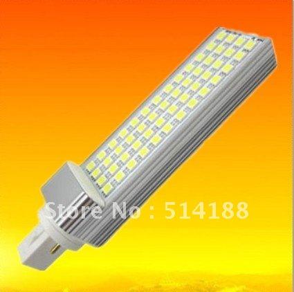 10pcs/lot Warm/Cool white 13W Led G24 PL Lamp Aluminum+PC G24/E27 Base 3 years warranty Epistar 52SMD Cornlight(China (Mainland))