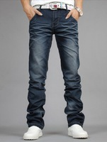Free shipping !!!  New 2014 hot sale Winter new style brand men's casual straight denim trousers