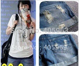 Lady denim shorts women's jeans shorts hot sale ladies' denim short pants Boot Cut Shorts size:S M L,XL,XXL