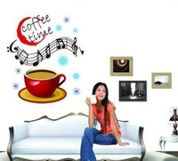 Coffee time Home room Decor Removable Wall Sticker/Decal/Decoration