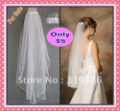 2012 Free Shipping Discount White Wedding Bridal Finish Edge Comb Veil Cheap V-A
