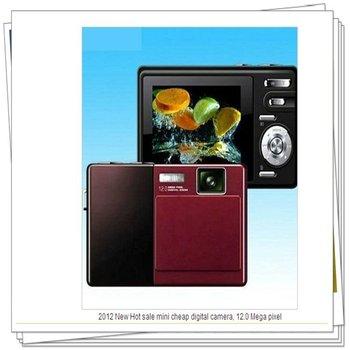 2012 New Hot sale mini cheap digital camera, 12.0 Mega pixel Waterproof / Shockproof