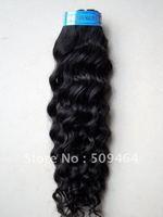 Hotsale! 18 Inch Brazilian Hair Deep Wave 100% Human Hair Bulk Weave # 1B Black Color Dropshipping Free shipping