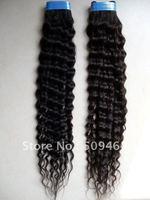 Wholesale- 24 Inch Brazilian Hair Deep Wave 100% Human Hair Weave # 1B Black Color Dropshipping 3pcs/lot