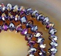 1000PCS AB 5x8mm Purple  Crystal Loose Bead
