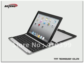 Mini Aluminum 5188  Wireless Bluetooth Keyboard  for Ipad 2 for  Ipad 3 case free shipping