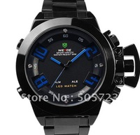 New Unique Fashion Men's Style Digital Sports  Military Watch Weide Metal Date Alarm Analog LED Gift