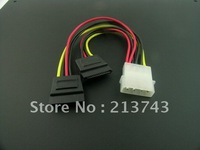 IDE to 2 x Serial ATA SATA HDD Power Adapter Cable Splitter