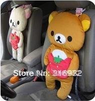 U1  Stawberry Rilakkuma Bear Car Seat Cushion soft Pillow cover, Novelty  Gift Toy , 1 pair FREE SHIPPING