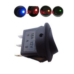 Blue+Red+Green+Amber Led Dot Light 12V Car Auto Round Rocker ON/OFF SPST Switch 4pcs(China (Mainland))