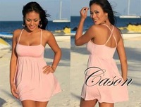 N090-Pink On Sale,FREE SHIPPING! New Arrivals Sexy Dress+G-string, Lovely Sexy Lingerie,Sexy Costume, One Size,Factory Price