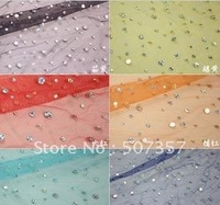 2012 Wholesale The sequined mesh gauze material / laser sequins gauze fabric / Theatrical Costume