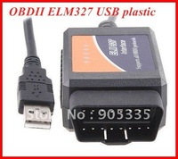 Wholesales OBDII scanner ELM 327 car diagnostic interface scan tool ELM327 USB