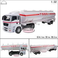 1:32 Man Accessplatforms 8 wheel heavy duty tank transport truck luxury lengthen alloy car model free air mail