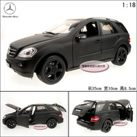 New Black 1:18 Model toy ML350 SUV car exquisite alloy car model free air mail