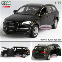 New Black AUDI Q7 SUV exquisite alloy car model free air mail