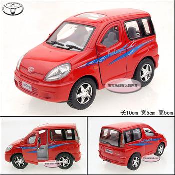 Soft world kinsfun series TOYOTA funcargo red alloy car models free air mail