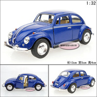 Soft world 1:32 kinsmart vw beetle volkswagen 1967 beetle blue alloy car models free air mail