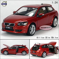 1:24 silver red  VOLVO c30 model car exquisite alloy car model free air mail