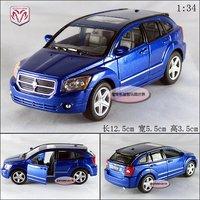 Blue1: 34 dodge caliber SUV alloy car models free air mail
