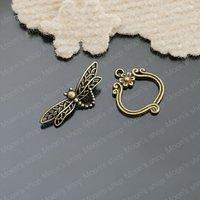 (26301)Free Shipping Wholesale Vintage Charms & Pendants Alloy Antique Bronze 25*22MM,33*13MM OT Bracelet clasp 10PCS