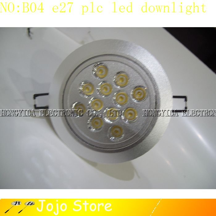 LED LIGHTS OUTSIDE 12W BULB E27 PLC DOWNLIGHT CEILING SPOTLIGHT LAMP LIGHT NO:B04(China (Mainland))