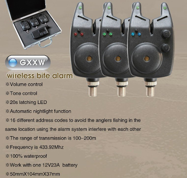 (Wholesale) Match Fishing carp fishing product bite indicator wireless bait alarm GXXW(China (Mainland))